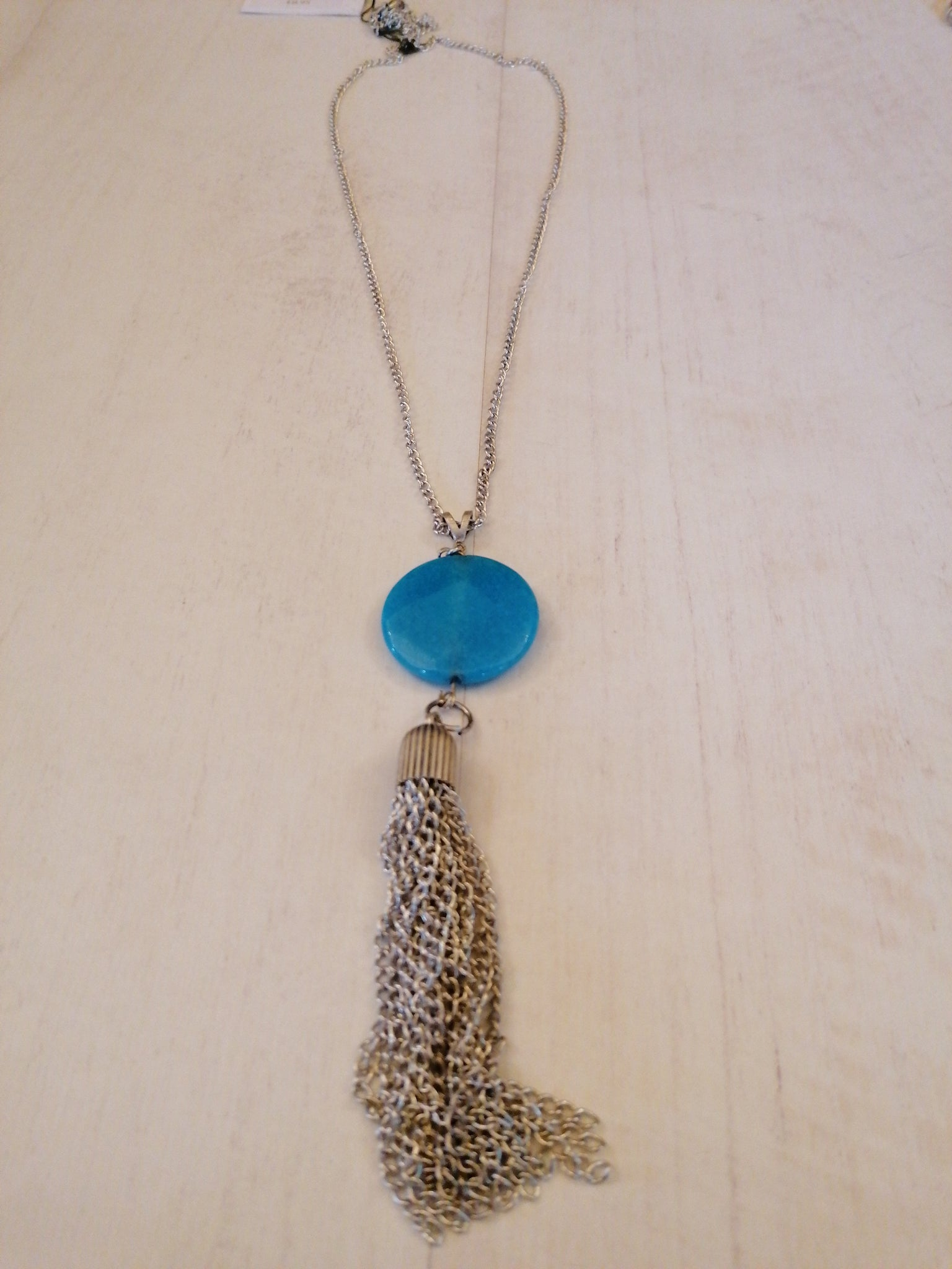 treaty kirsty turq long necklace