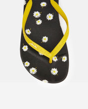Load image into Gallery viewer, Joules Black Daisy Flip Flops
