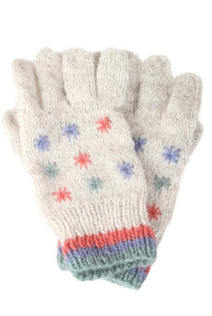 Snow in Summer Gloves- Oatmeal