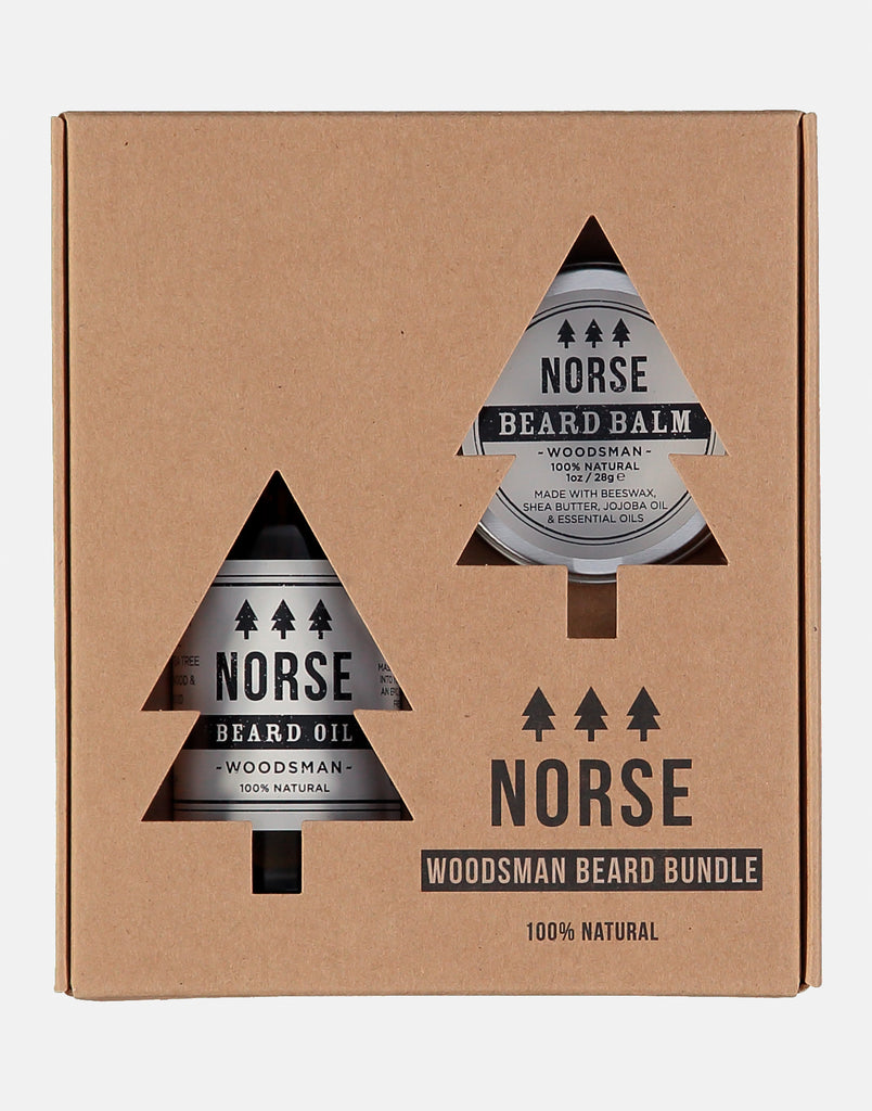 Norse Woodsman Beard Bundle, contains a beard oil and beard balm