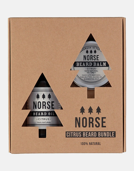 Norse Beard Bundle Citrus, contains a beard oil and beard balm