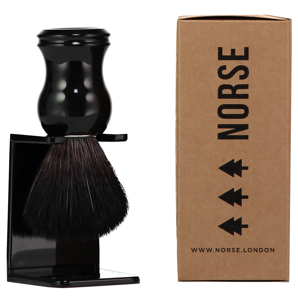 Shaving Brush and Stand - Ebony