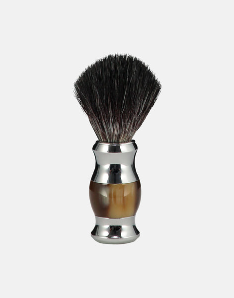 Norse horn coloured shaving brush, synthetic fibre, vegan friendly