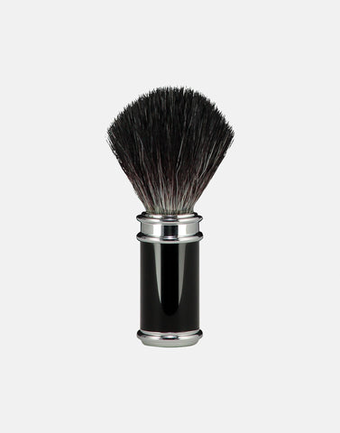 Norse shaving brush vegan friendly, thin handled ebony