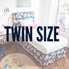 Twin size upholstered headboards from Hideout Kids come in fun prints and patterns for your child's room.