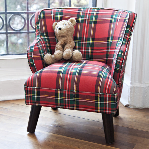 mini chair in dress stewart plaid hideout kids. Black Bedroom Furniture Sets. Home Design Ideas
