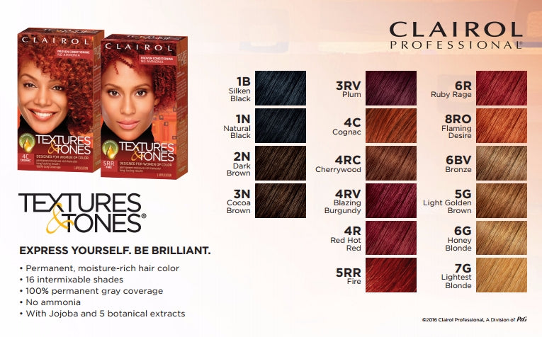 Clairol Textures And Tones Hair Color Chart Siteandsite Com