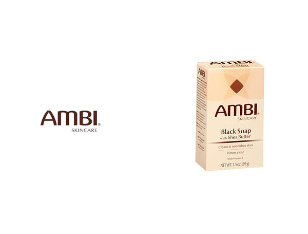 AMBI BLACK SOAP WITH SHEA BUTTER 3.5oz