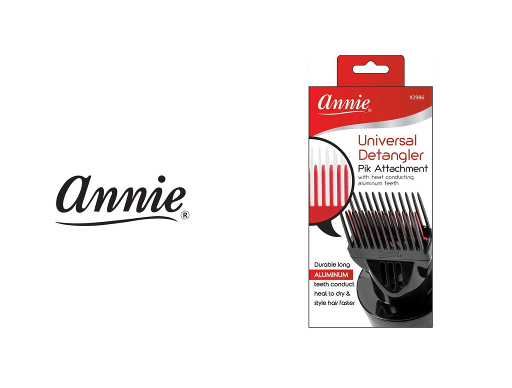 ANNIE UNIVERSAL FIT DETANGLER HAIR DRYER PIK BLACK & RED ANN2986