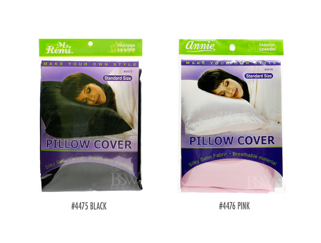ANNIE MS REMI SATIN PILLOW COVER -4 COLORS