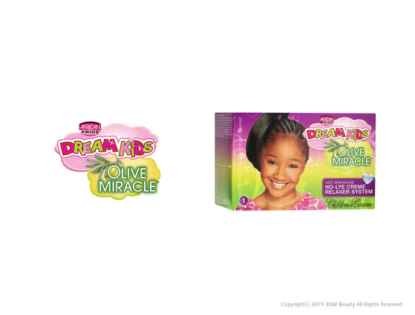 AFRICAN PRIDE DREAM KIDS OLIVE MIRACLE ANTI-BREAKAGE NO-LYE CREME RELAXER SYSTEM KIT - CHILDREN'S COARSE
