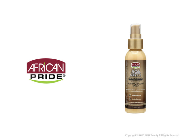 AFRICAN PRIDE BLACK CASTOR MIRACLE ANTI-HUMITY HEAT PROTECTANT SPRAY 4oz
