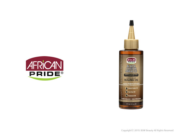 AFRICAN PRIDE BLACK CASTOR MIRACLE HAIR & SCALP SEALING OIL 6oz