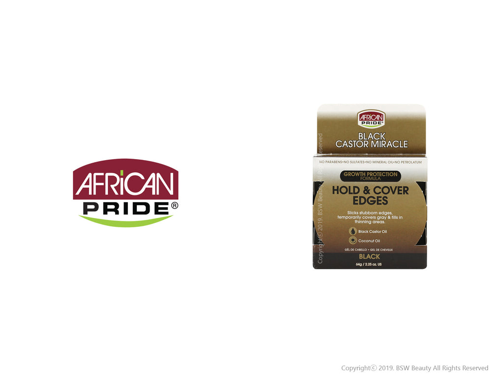 AFRICAN PRIDE BLACK CASTOR MIRACLE HOLD & COVER EDGES 2.25oz