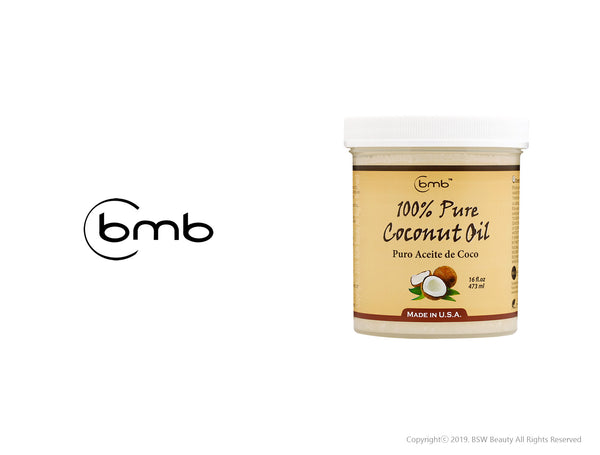 BMB 100% PURE COCONUT OIL FOR HAIR AND SKINPURO ACEITE DE COCO 8 / 16oz