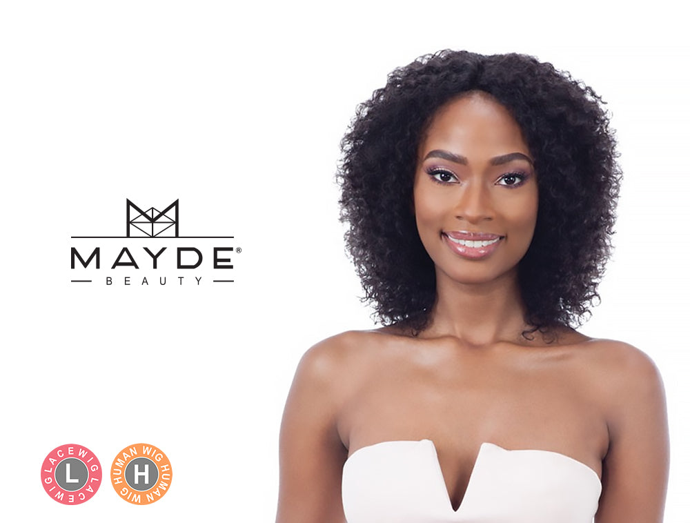 MAYDE BEAUTY 100% HUMAN HAIR WET & WAVY INVISIBLE LACE PART WIG BOHEMIAN CURL