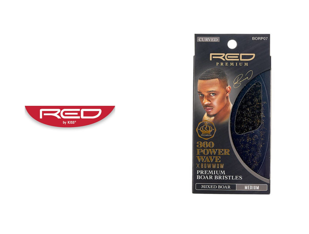 RED BY KISS RPM POWER WAVE PALM BOAR BRUSH (MEDIUM)