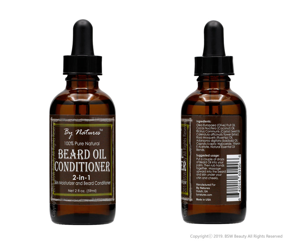 BY NATURES BEARD OIL CONDITIONER 2-IN-1 2oz