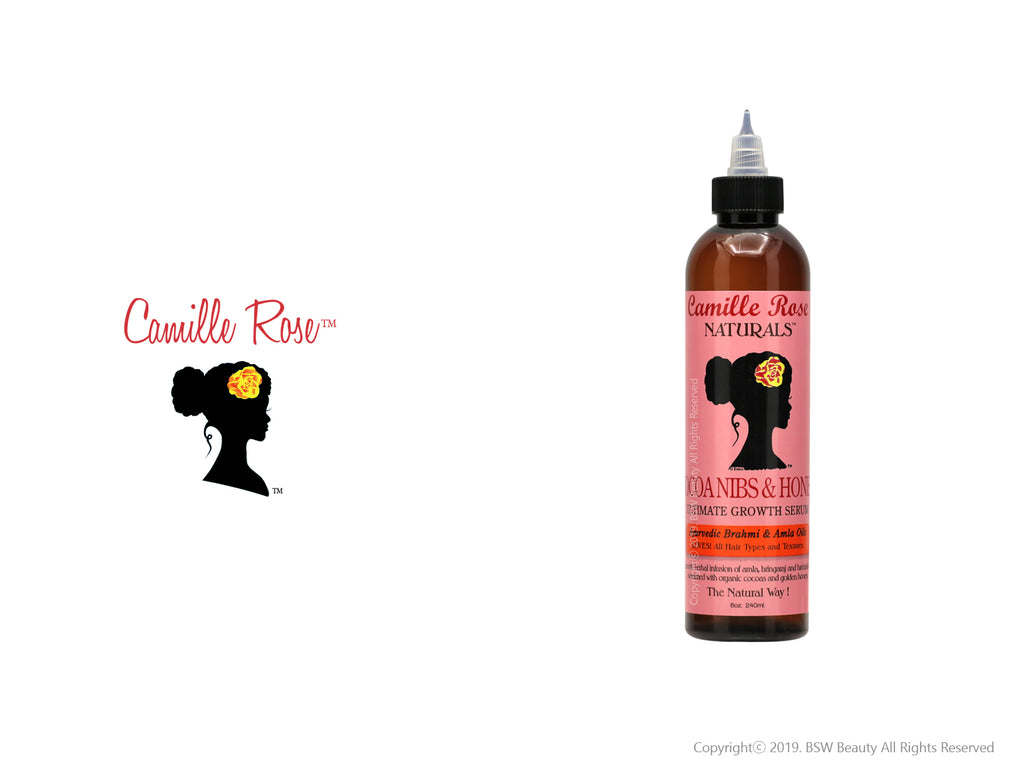 CAMILLE ROSE NATURALS COCOA NIBS & HONEY ULTIMATE GROWTH SERUM 8oz