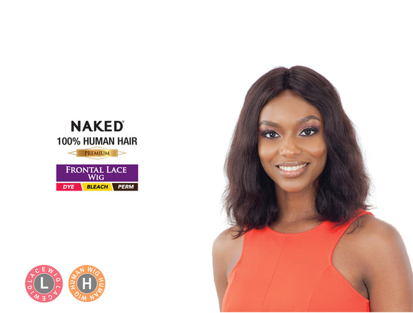 SHAKE N GO NAKED BRAZILIAN NATURAL 100% HUMAN HAIR LACE FRONT WIG CLEONA