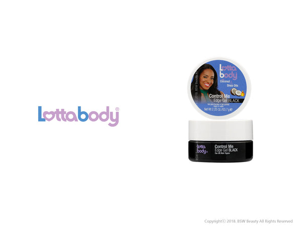 LOTTABODY COCONUT & SHEA OILS CONTROL ME EDGE BLACK 2.25oz