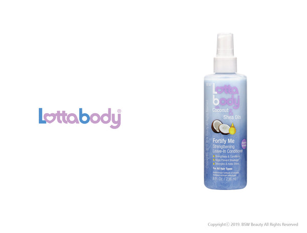 LOTTABODY COCONUT & SHEA OILS FORTIFY ME STRENGTHENING LEAVE-IN CONDITIONER 8oz