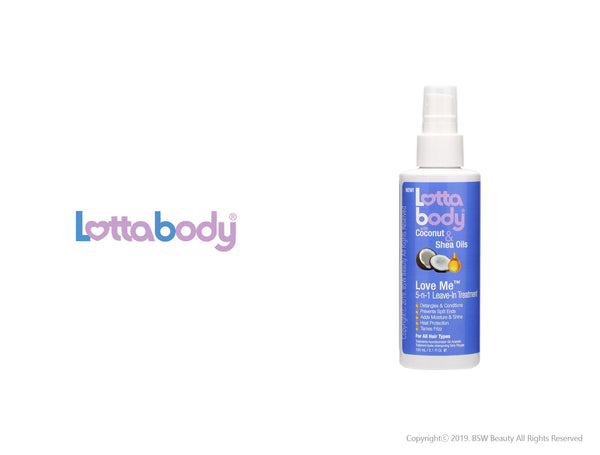 LOTTABODY COCONUT & SHEA OILS LOVE ME 5-N-1 LEAVE-IN TREATMENT 5.1oz