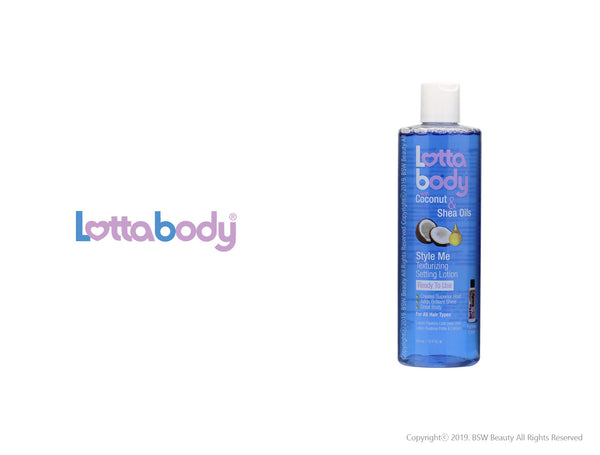 LOTTABODY COCONUT & SHEA OILS STYLE ME TEXTURIZING SETTING LOTION 12oz
