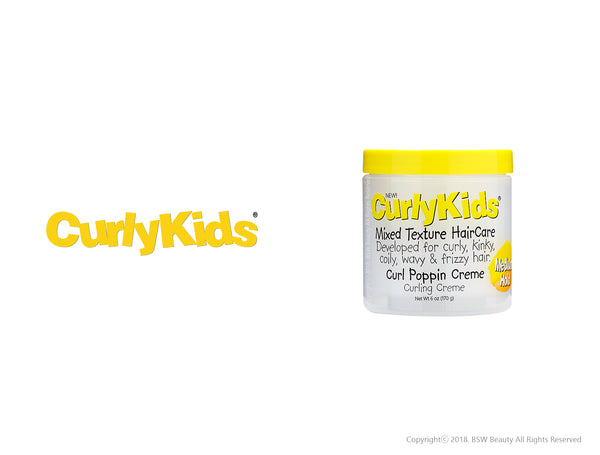 CURLY KIDS MIXED HAIRCARE CURL POPPIN CREME 6oz
