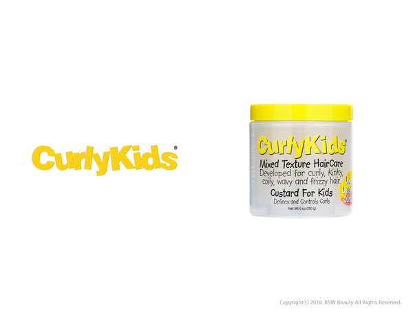 CURLY KIDS CUSTARD FOR KIDS DEFINES AND CONTROLS CURLS 6oz