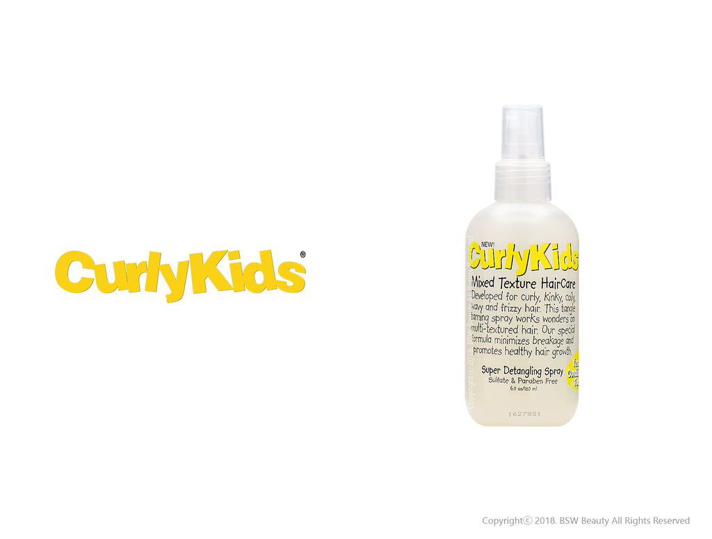 CURLY KIDS SUPER DETANGLING SPRAY 6oz