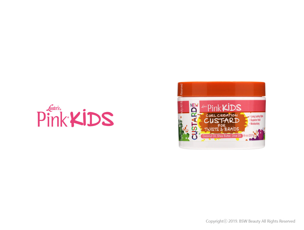 LUSTER'S PINK KIDS CUR CREATION CUSTARD FOR TWISTS & BRAIDS 8oz