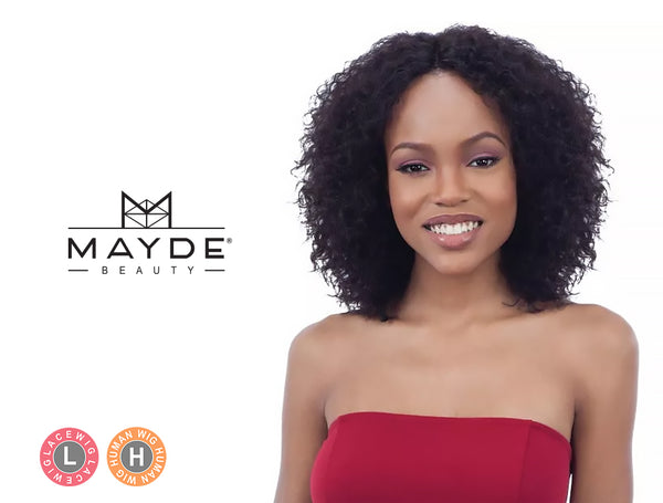 MAYDE BEAUTY 100% HUMAN HAIR WET & WAVY INVISIBLE LACE PART WIG DEEP CURL
