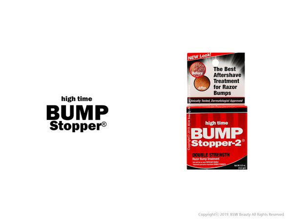 HIGH TIME BUMP STOPPER 2 DOUBLE STRENGTH RAZOR BUMP TREATMENT 0.5oz***