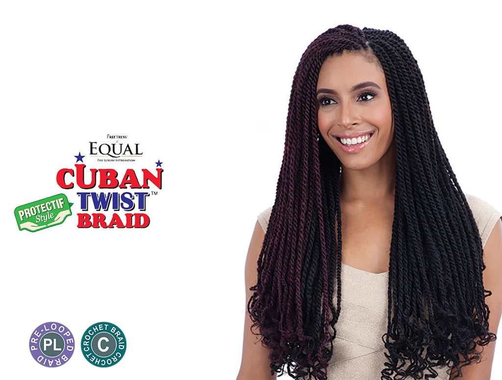 "SHAKE N GO FREETRESS EQUAL CUBAN TWIST BRAID 24"" [W]"