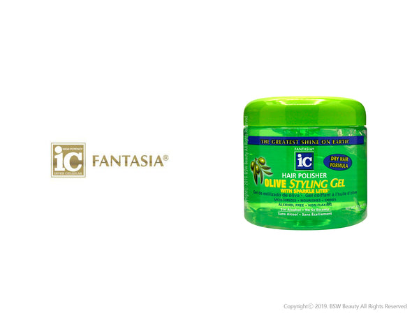 FANTASIA IC HAIR POLISHER OLIVE STYLING GEL 16oz