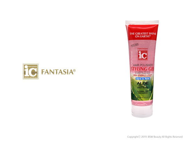 FANTASIA IC HAIR POLISHER STYLING GEL HARD TO HOLD 8.7oz