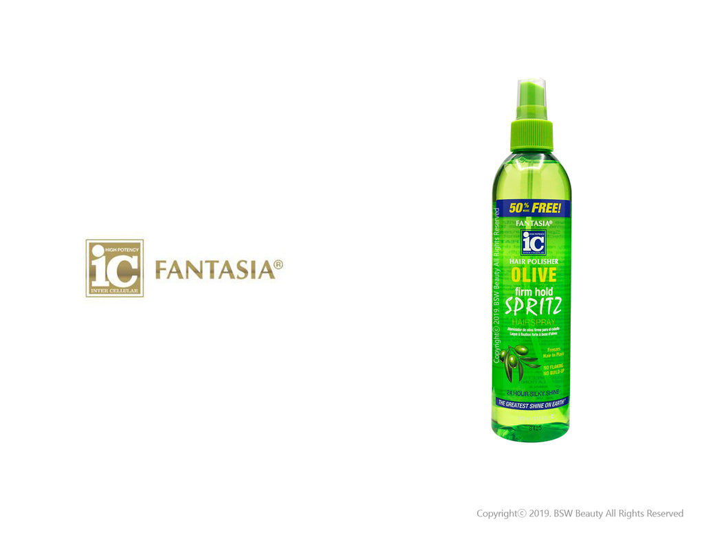 FANTASIA IC HAIR POLISHER SPRITZ HAIR SPRAY OLIVE FIRM HOLD 12oz