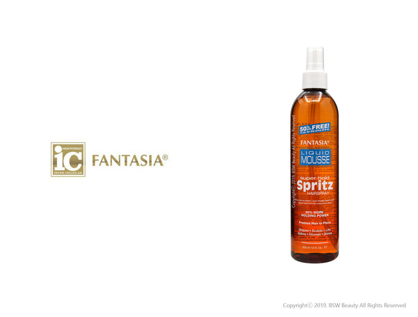 FANTASIA IC LIQUID MOUSSE SPRITZ HAIR SPARY SUPER HOLD 12oz