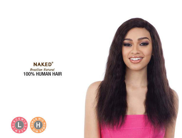 SHAKE N GO NAKED BRAZILIAN NATURAL 100% HUMAN HAIR FULL DENSITY LACE PART WIG - FD DEEP WAVE 18""