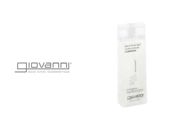 GIOVANNI SMOOTH AS SILK DEEPER MOISTURE CONDTIONER FOR DAMAGED HAIR 8.5oz