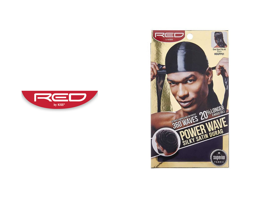RED BY KISS POWER WAVE SILKY DURAG #HDUPP01