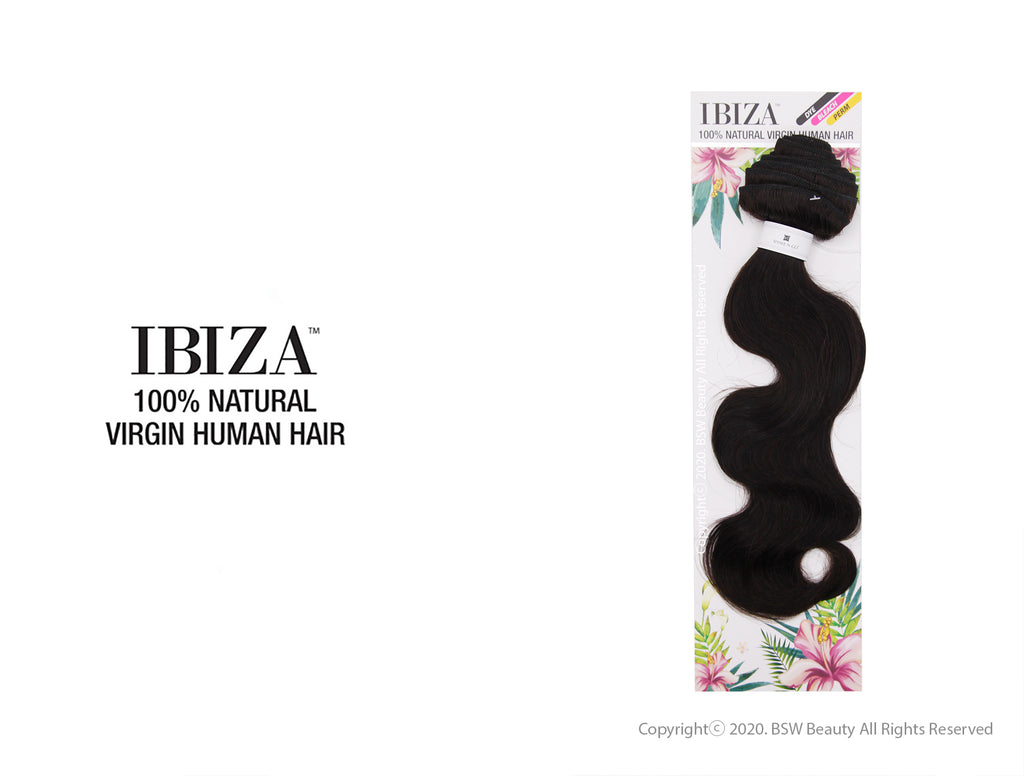 "SHAKE N GO IBIZA 100% NATURAL VIRGIN HUMAN HAIR BODY 10""-24"""