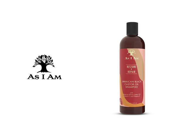 AS I AM RESTORE & REPAIR JAMAICAN BLACK CASTOR OIL SHAMPOO 12oz