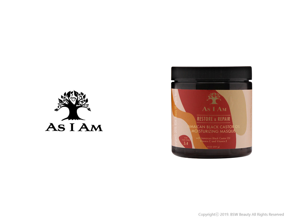 AS I AM RESTORE & REPAIR JAMAICAN BLACK CASTOR OIL MOISTURIZING MASQUE 8oz