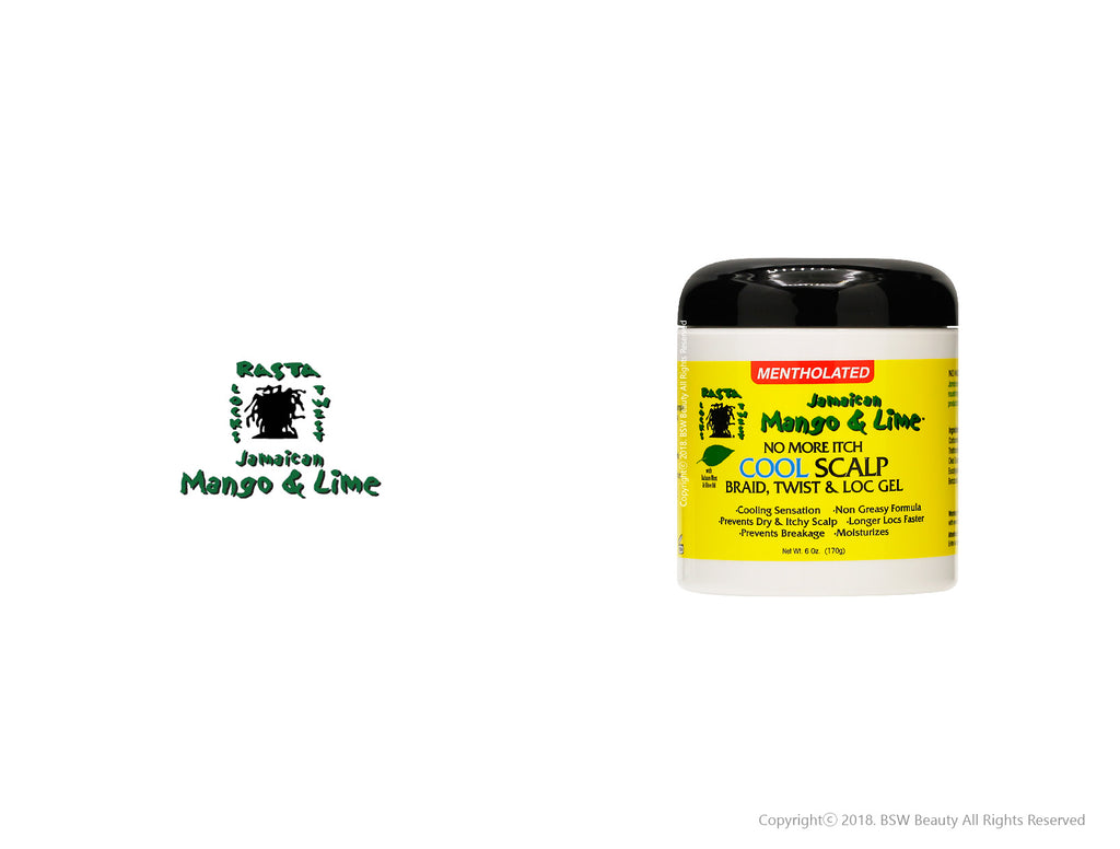 JAMAICAN MANGO & LIME NO MORE ITCH COOL SCALP BRAID, TWIST & LOC GEL 6oz