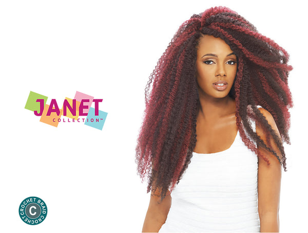 JANET COLLECTION  NOIR 100% KANEKALON 3X TRIPLE AFRO TWIST BRAID