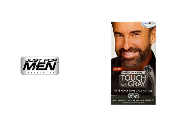 JUST FOR MEN TOUCH OF GRAY FOR MUSTACHE&BEARD - B-45/55 DARK BROWN&BLACK