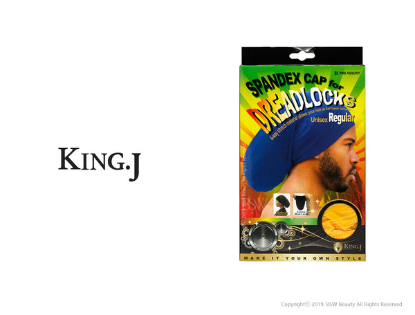 KING.J SPANDEX CAP FOR DREADLOCKS UNISEX REGULAR #703 ASSORT
