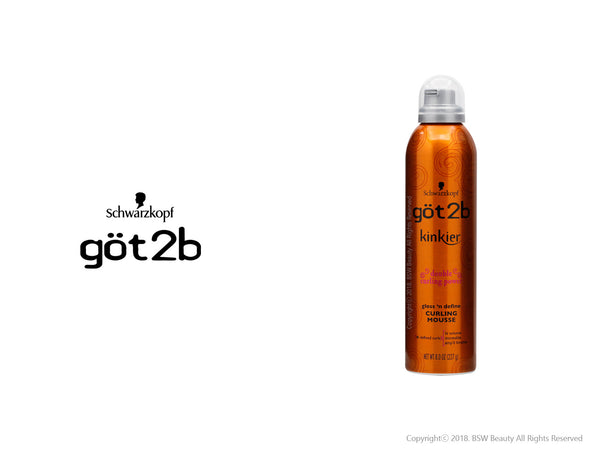 GOT2B KINKIER GLOSS 'N DEFINE CURLING MOUSSE 8oz***